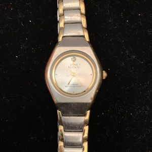 Anne Klein Woman's Watch Silver & Gold Tones